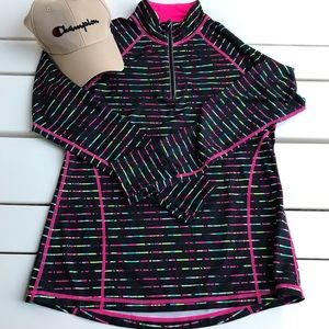Ideology neon colors work out athletic pullover M